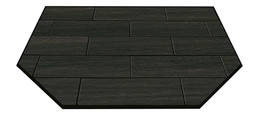 Woodland Black floor protector