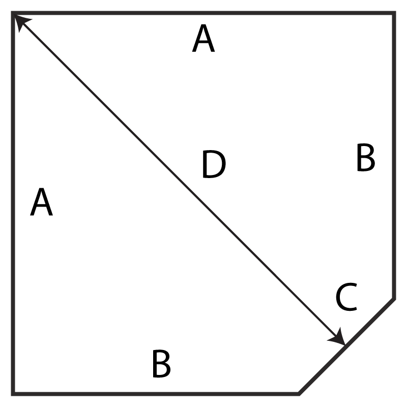 Hearth Originals single LOP corner diagram