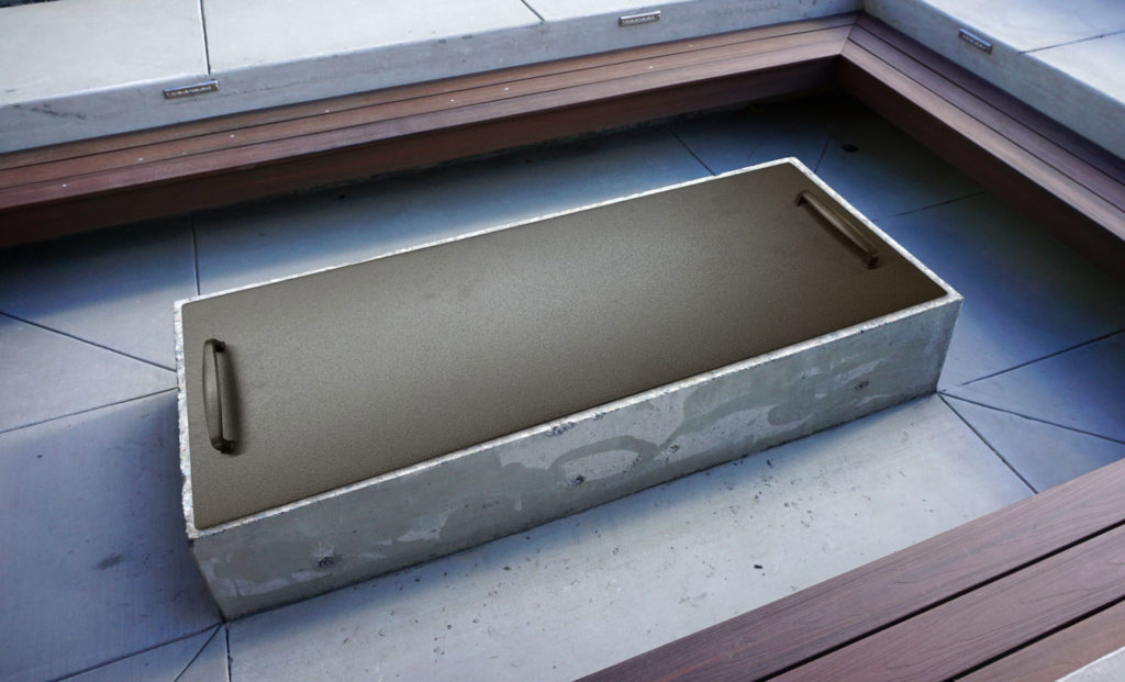 Rectangular Smokey's gas fire pit cover